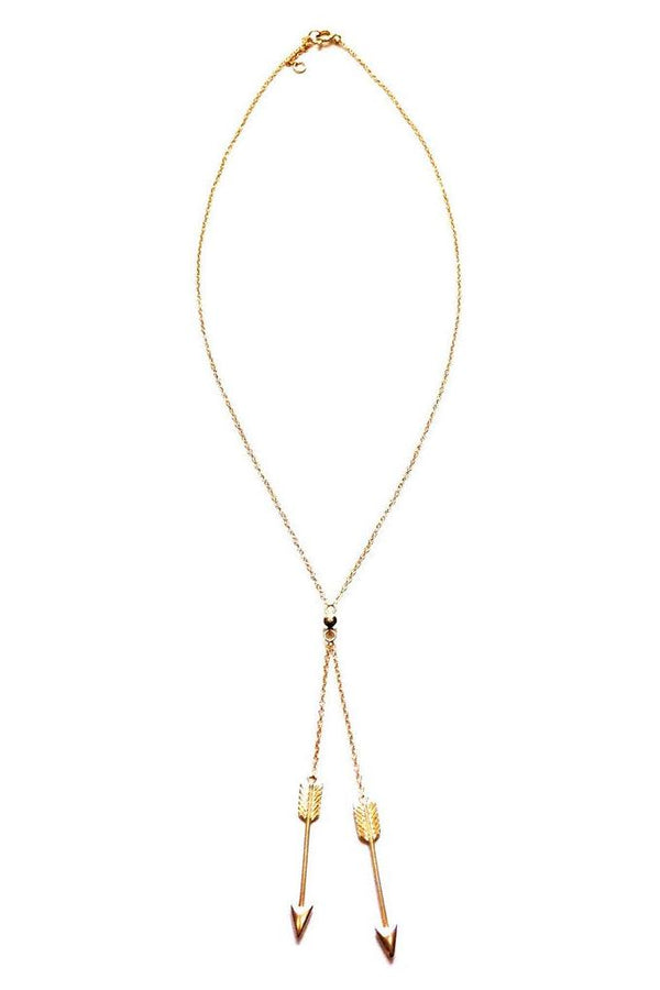 Double Arrow Y Necklace, $27 | Gold Vermeil | Light Years Jewelry