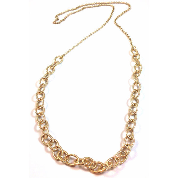 Gold Link Necklace, $18 | Gold-Plated | Light Years Jewelry