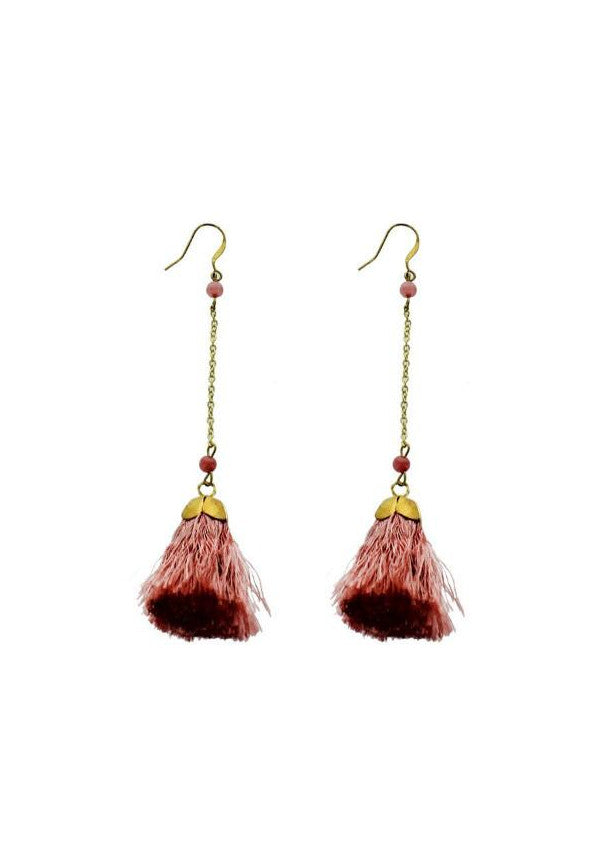Rose Tassel Dangles, $12 | Gold Earrings | Light Years Jewelry