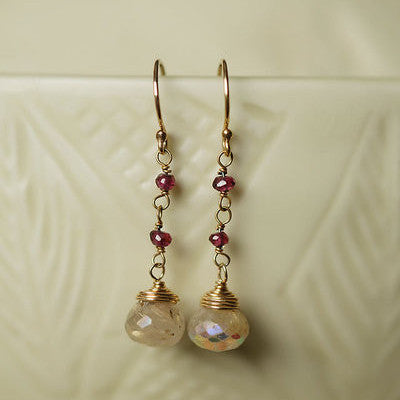 Gumdrop Rutilated Quartz Earrings, $32 | Gold-Filled | Light Years Jewelry