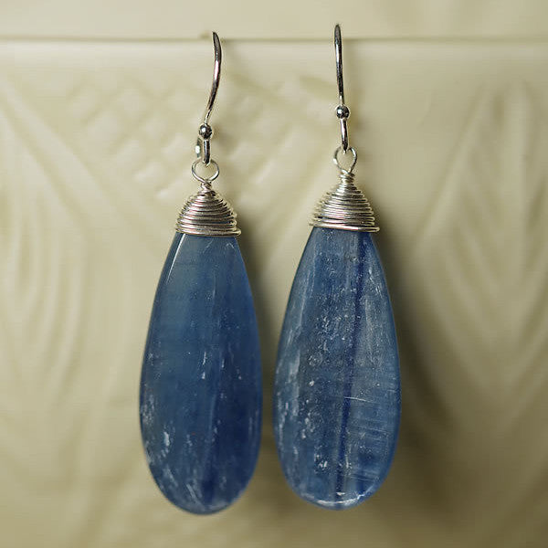 Kyanite Teardrop Earrings $30 | Sterling Silver | Light Years Jewelry