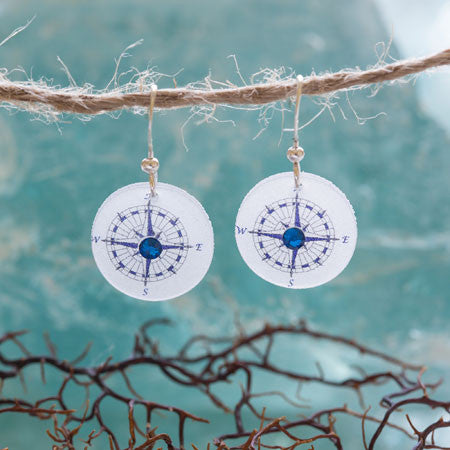 Beijo Brasil Compass Earrings, $14 | Light Years Jewelry