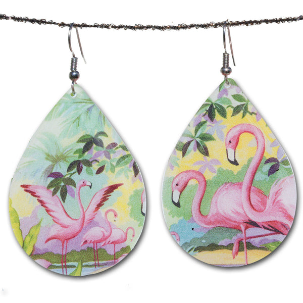 Beijo Brasil Pink Flamingo Earrings, $20 | Light Years Jewelry
