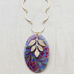 Beijo Brasil Acai with Gold Leaves Necklace, $30 | Light Years Jewelry