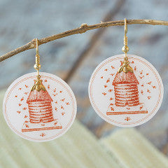 Beijo Brasil Beehive Earrings, $18 | Handmade | Light Years Jewelry