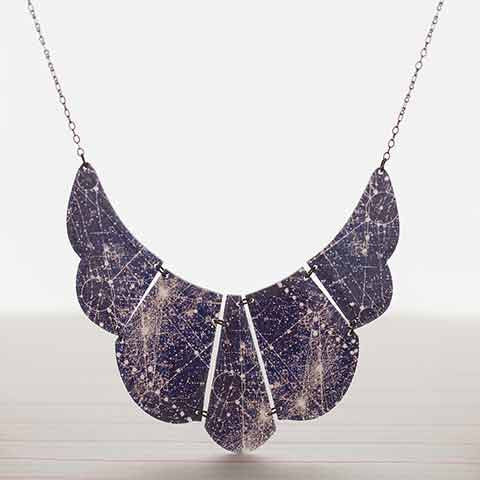 Beijo Brasil Celestial Blueprint Necklace, $42 | Handmade | Light Years
