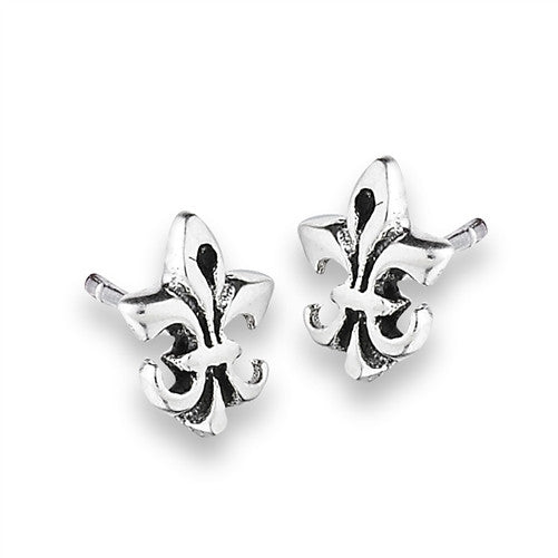 Fleur de Lis Posts, $9 | Sterling Silver Studs | Light Years Jewelry