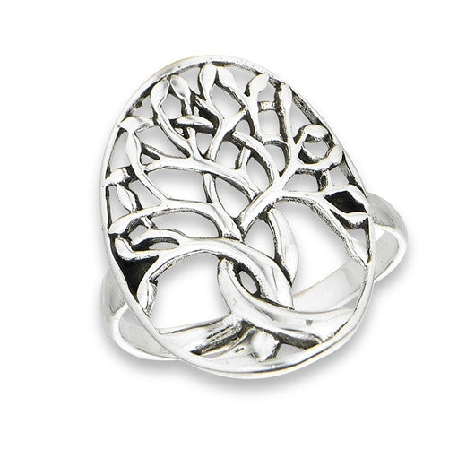 Braided Tree Ring | Sterling Silver Size 5 6 7 8 9 10  | Light Years