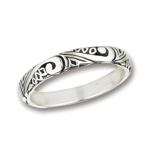 Silver Swirl Band Ring | Sterling Silver Size 5 6 7 8 9 | Light Years