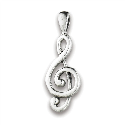 Treble Clef Pendant, $12 | Sterling Silver | Light Years Jewelry
