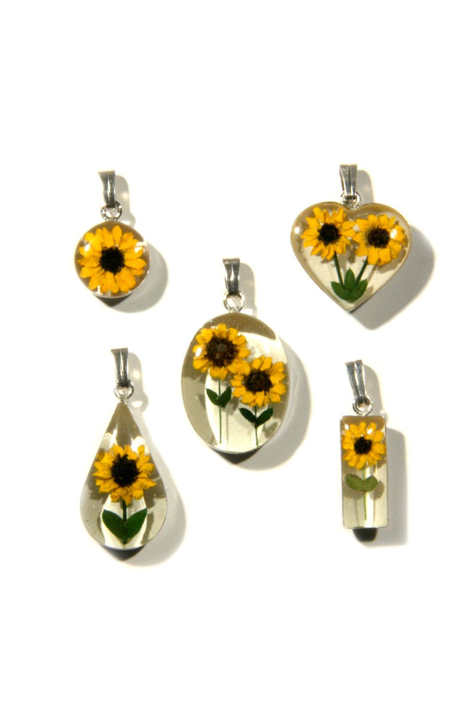Real sunflower necklace 18 20 silver plated light years jewelry real sunflower necklace 17 20 silver plated light years jewelry aloadofball Image collections