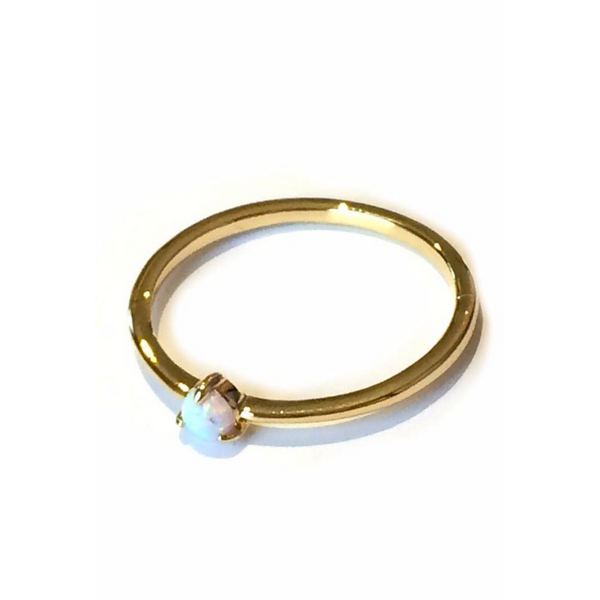 Tiny Opal Dot Ring, $12 | Gold Plated Size 6, 7, 8 | Light Years Jewelry