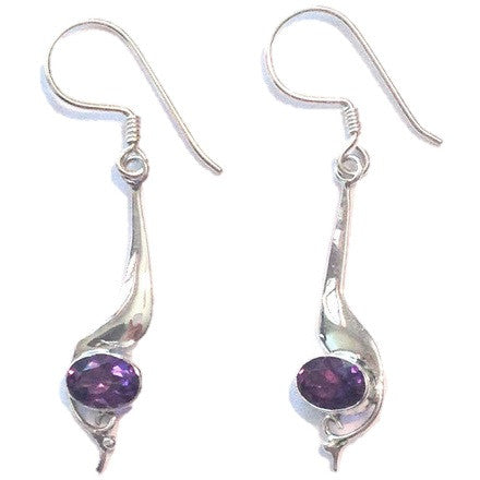 Long Amethyst Dangles, $28 | Sterling Silver Earrings | Light Years Jewelry