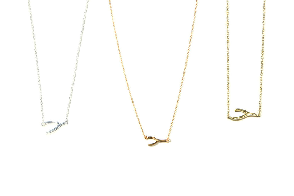 Wishbone Necklace, $17 | Sterling Silver or Gold | Light Years Jewelry