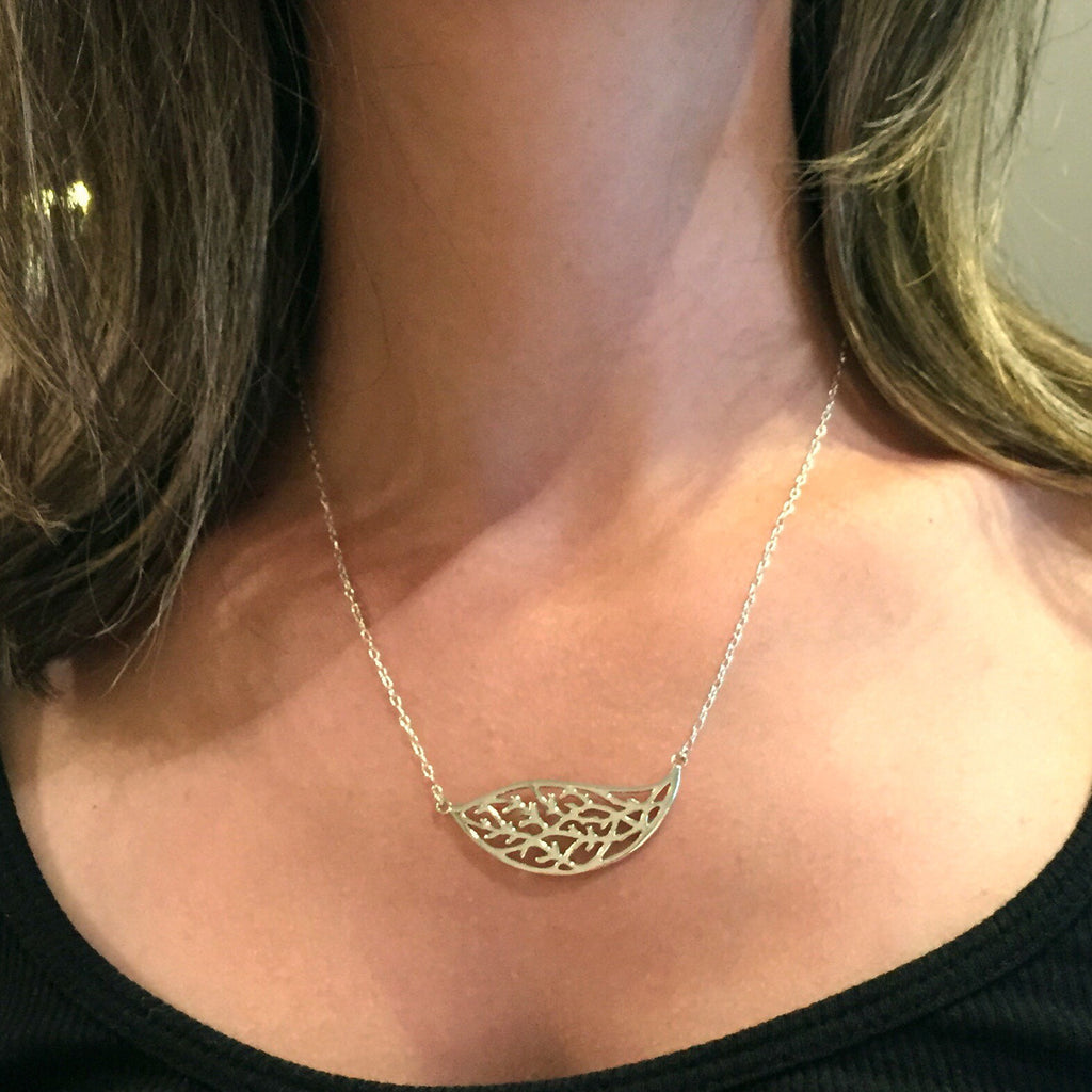 Sterling Silver Cutout Leaf Necklace, $24 | Light Years Jewelry