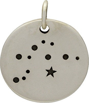 Zodiac Constellation Disc Necklace | Sterling Silver | Light Years Jewelry