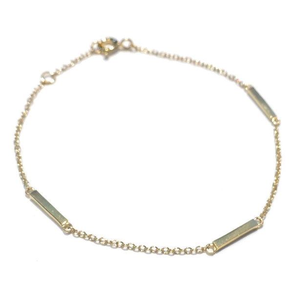 Gold Vermeil Three Small Bars Bracelet, $14 | Light Years Jewelry