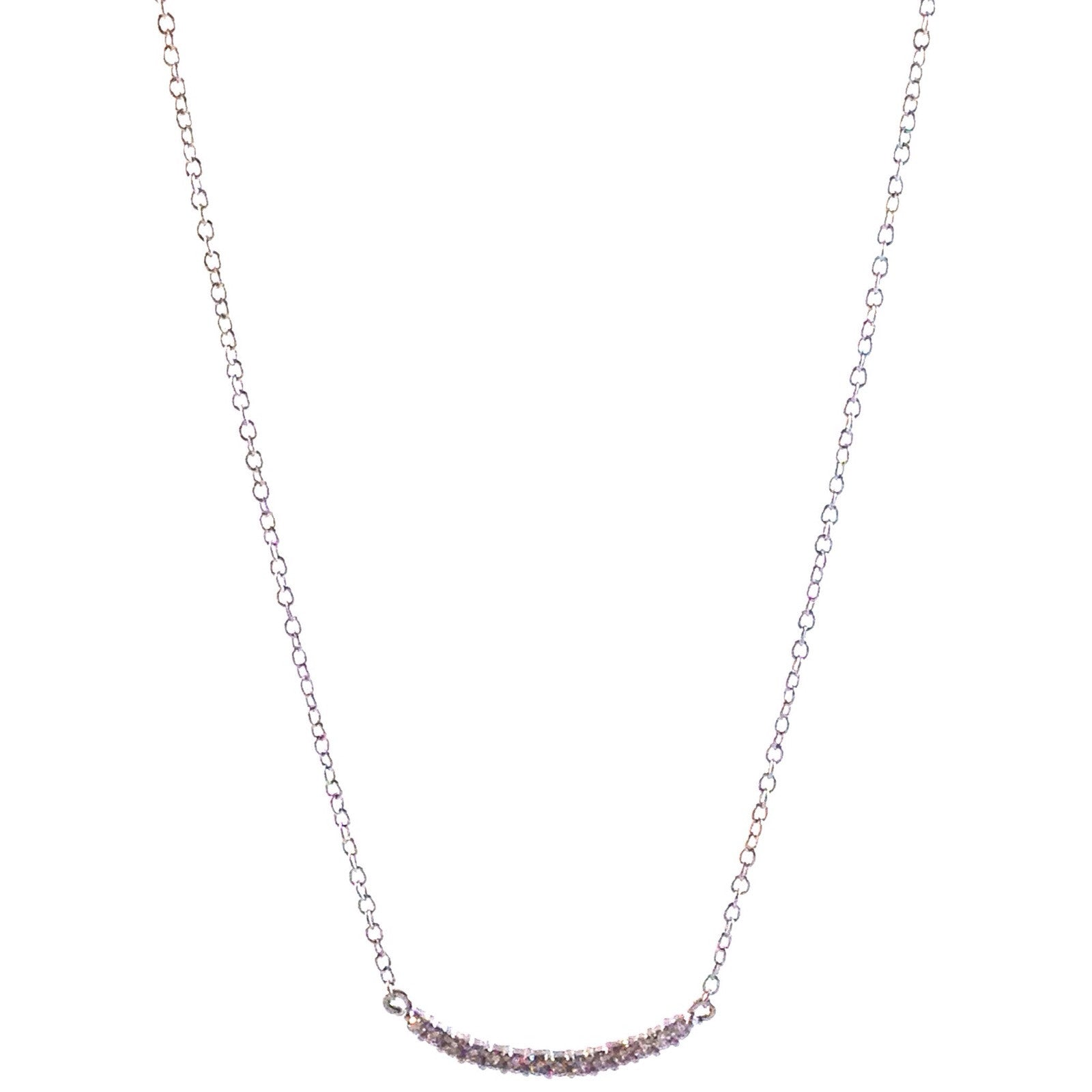 Small CZ Bar Necklace, $22 | Sterling Silver| Light Years Jewelry