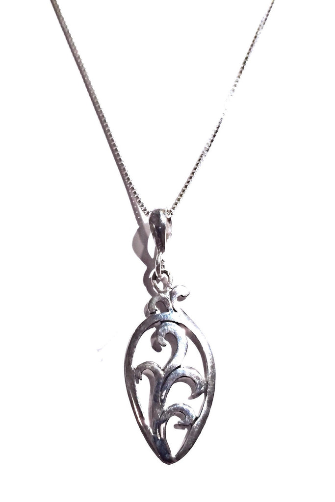 Silver Vine Scroll Necklace, $20 | Sterling Pendant | Light Years Jewelry