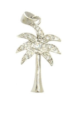 Palm Tree Pendant and Chain | Sterling Silver CZ | Light Years Jewelry