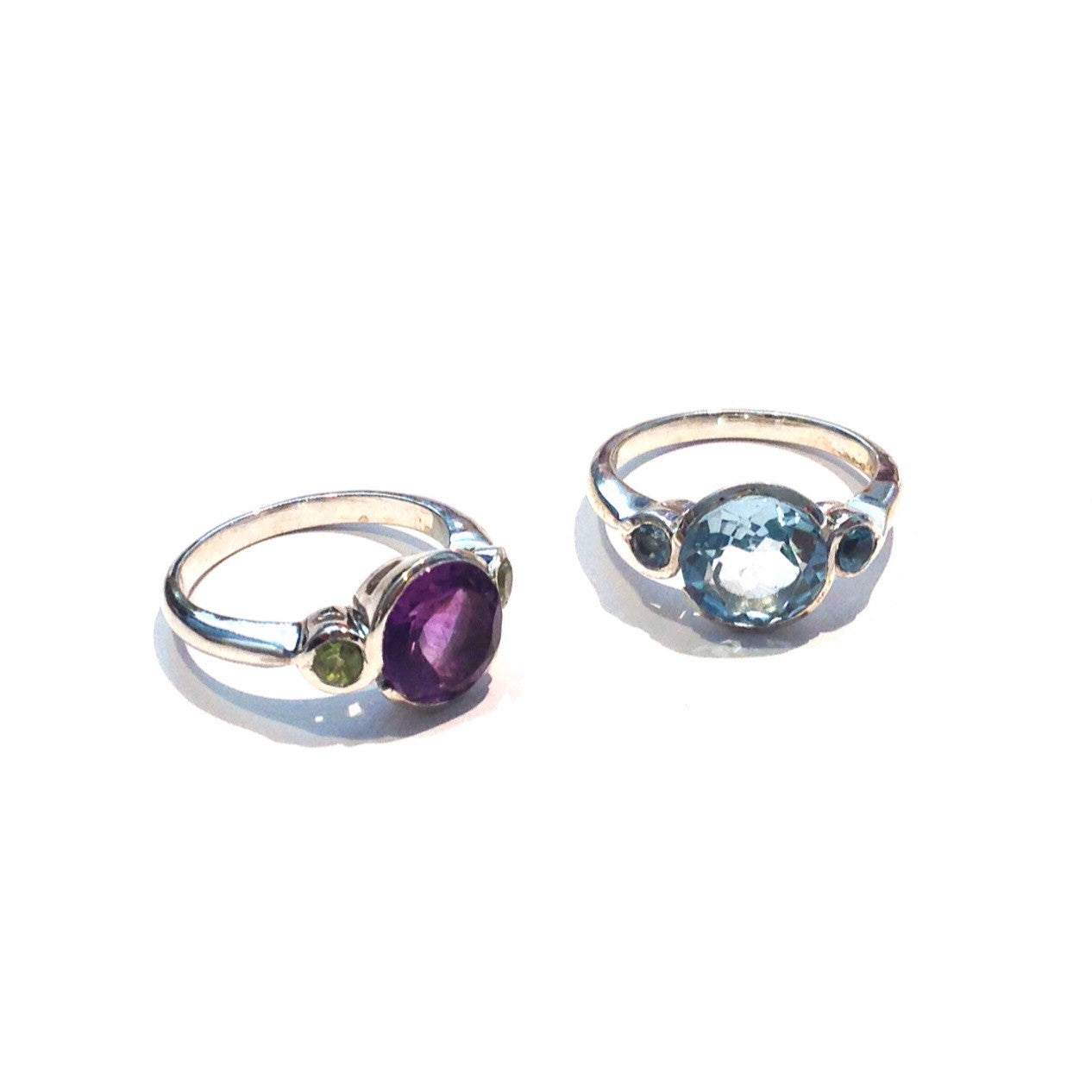 Faceted Stone Ring, $34 | Amethyst, Blue Topaz | Light Years Jewelry
