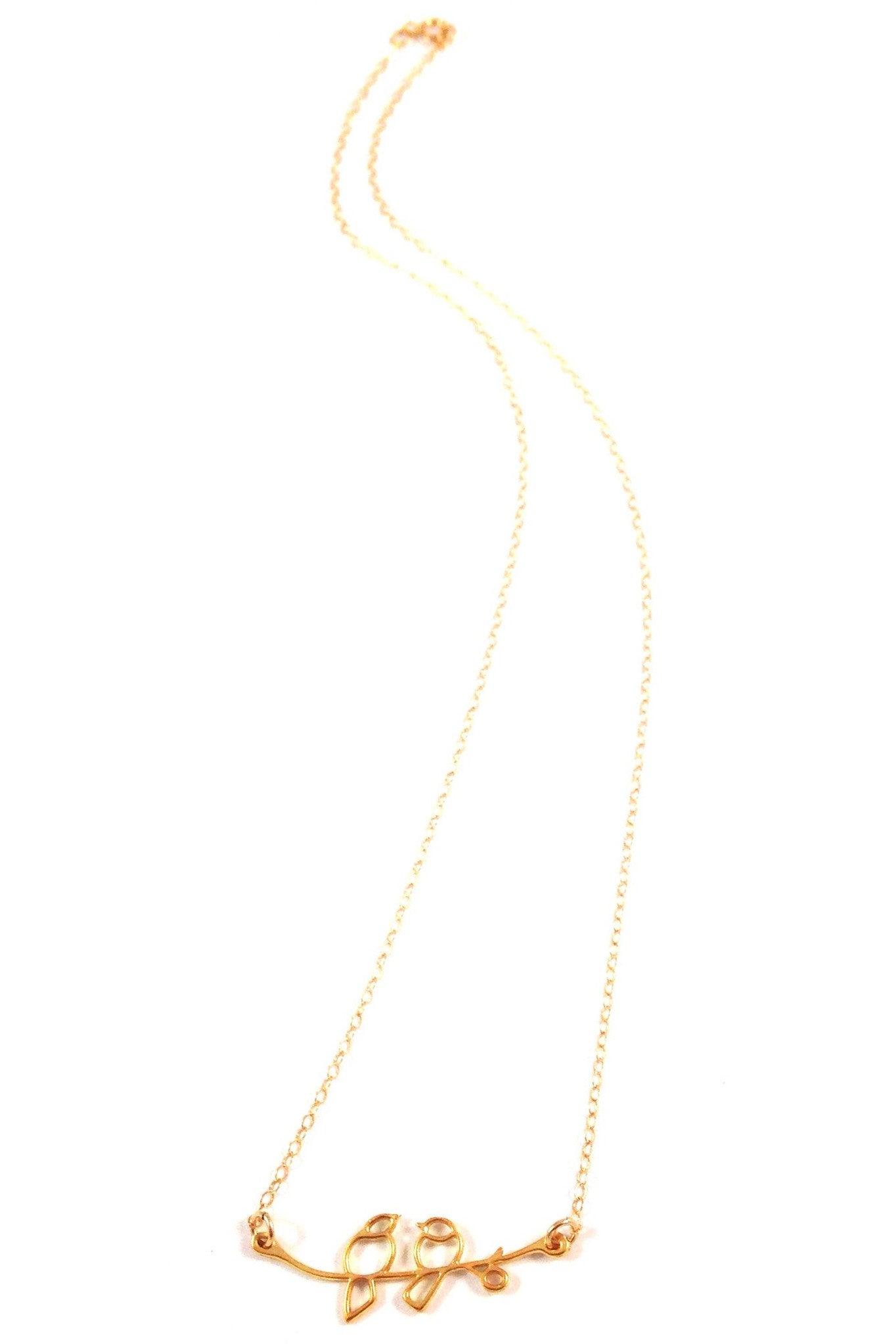 Love Birds Necklace, $34 | 14kt Gold-Filled | Light Years Jewelry