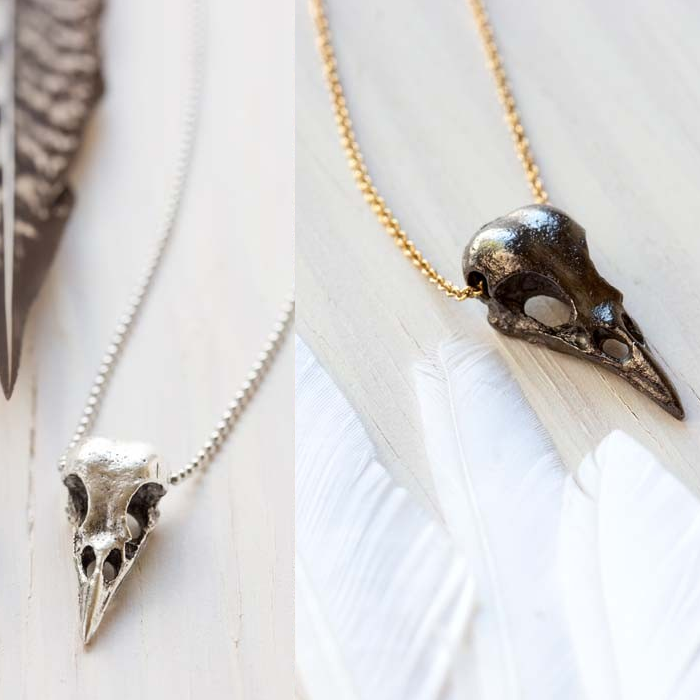 products horns gold lattner in skull or silver aria necklace longhorn