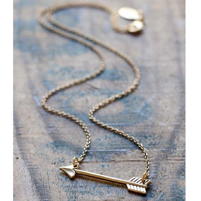 Amano Golden Arrow Necklace, $26 | Light Years Jewelry