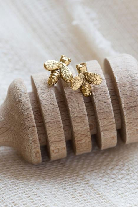 Tiny Honey Bee Posts, $12 | Amano Stud Earrings | Light Years Jewelry