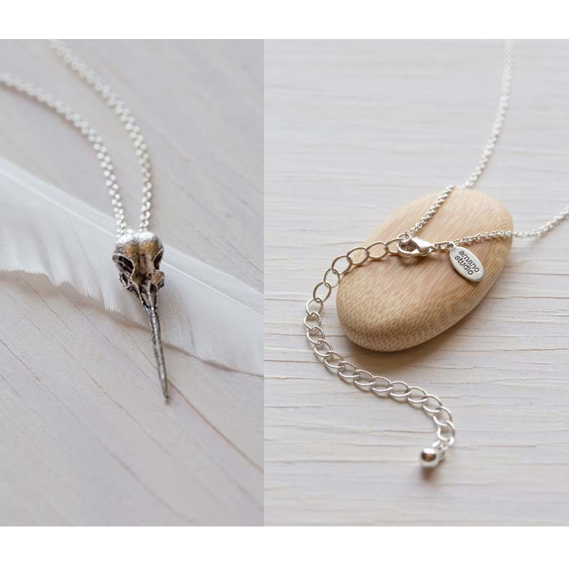 Hummingbird Skull Necklace, $26 | Light Years Jewelry