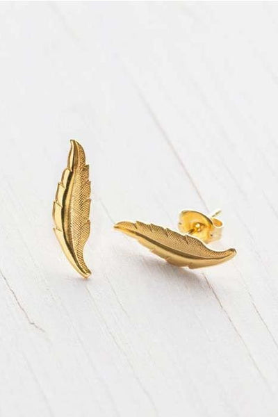 Leaf Studs by Amano, $18 | Gold Plated | Light Years Jewelry
