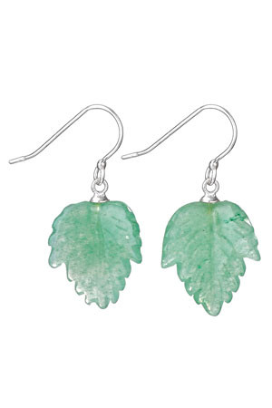 Green Aventurine Leaf Dangles, $18 | Light Years Jewelry