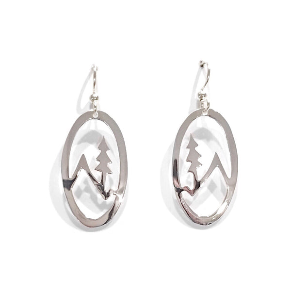 Mountain and Tree Silhouette Earrings, $14 | Light Years Jewelry