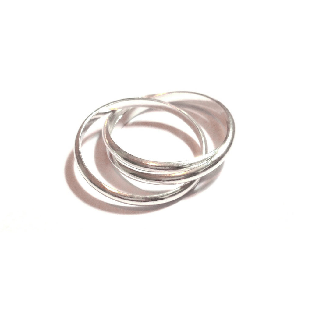 Triple Rolling Ring | Sterling Silver | Light Years Jewelry