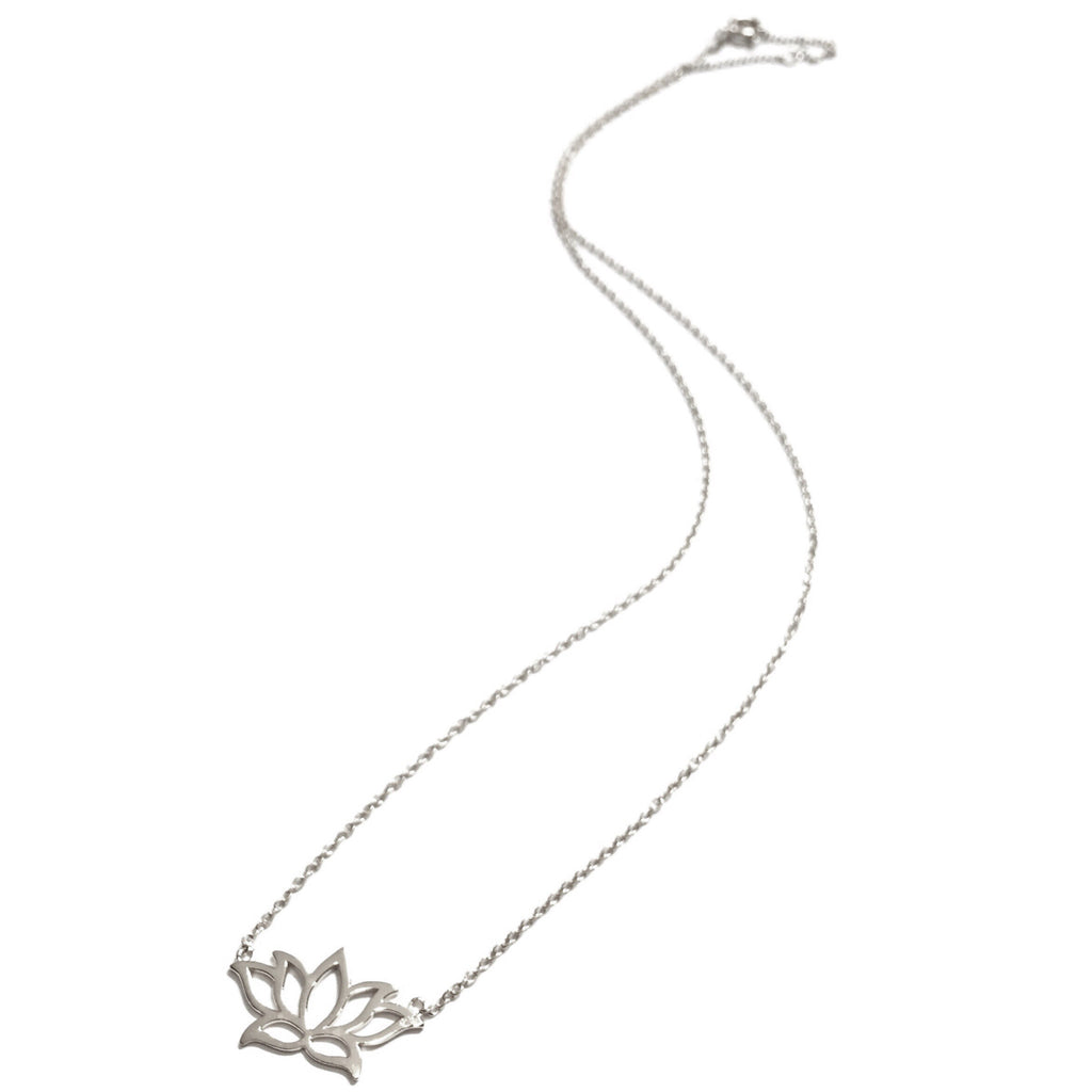 Open Lotus Filigree Necklace, $19 | Sterling Silver | Light Years Jewelry