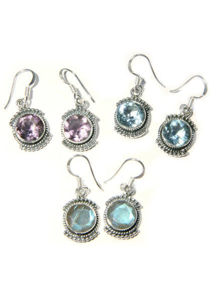 Stone Dangles, $24 | Amethyst, Blue Topaz, Labradorite | Light Years