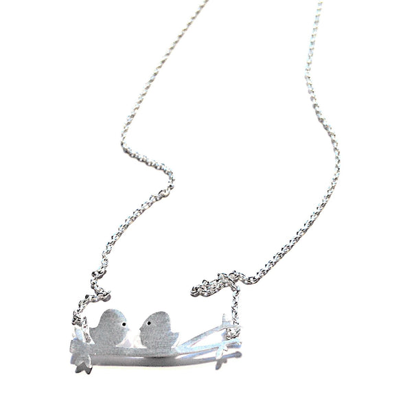 Two Love Birds On A Branch Necklace, $22 | Silver | Light Years Jewelry
