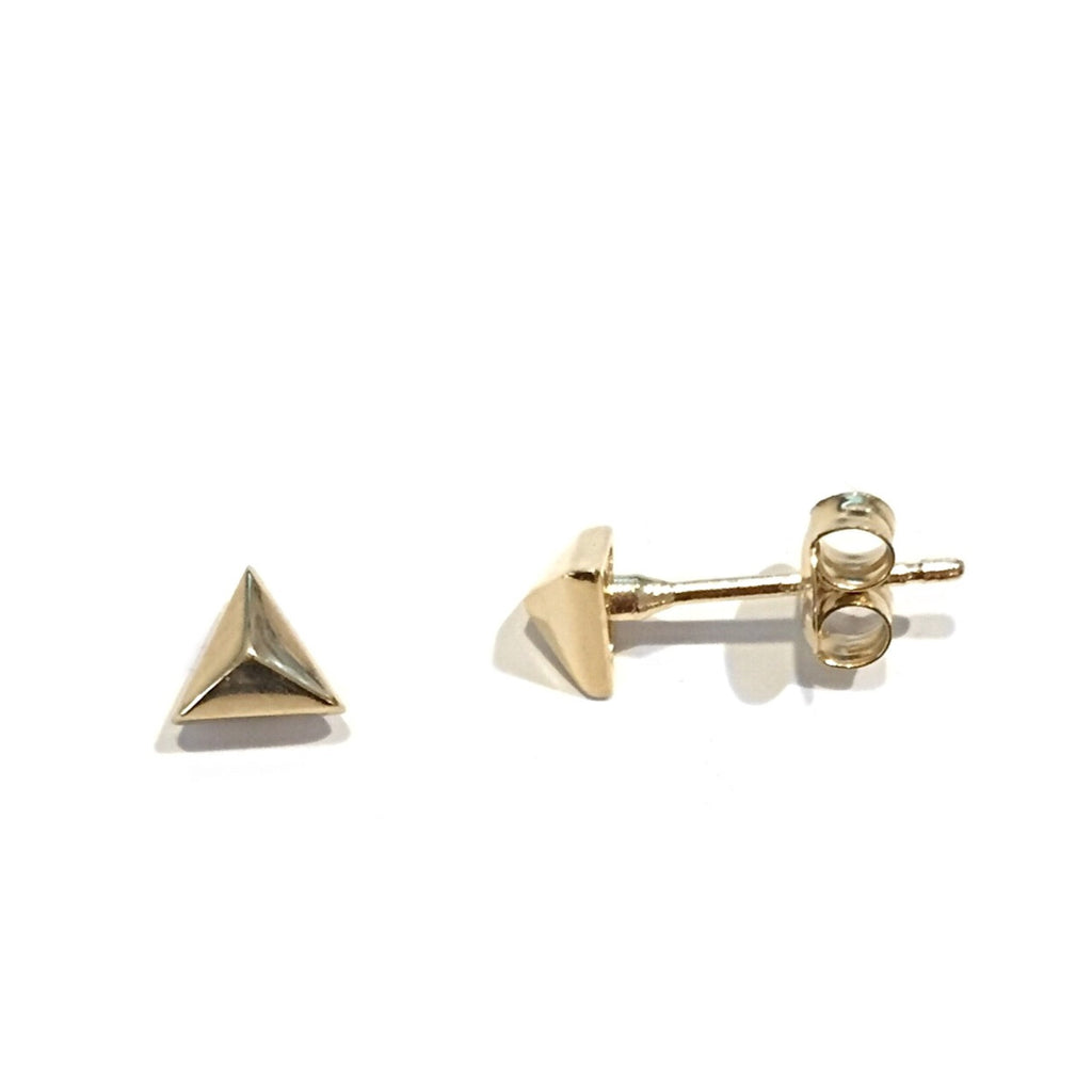 Pyramid Posts, $12 | Gold Vermeil Stud Earrings | Light Years Jewelry