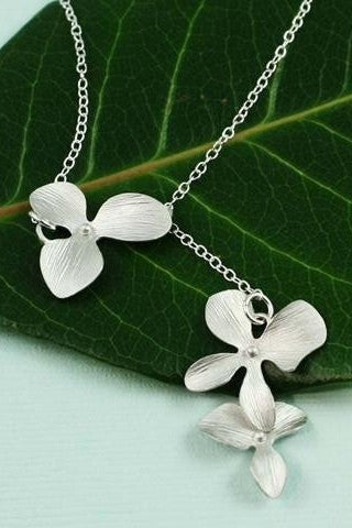 Triple Orchid Necklace