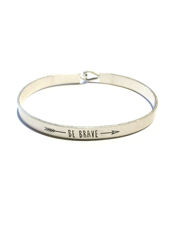 """Be Brave"" Cuff Bracelet 