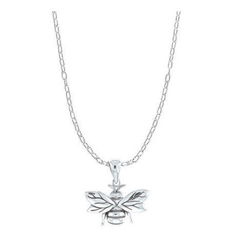 Bee Necklace, $42 | Sterling Silver Chain and Pendant | Light Years Jewelry