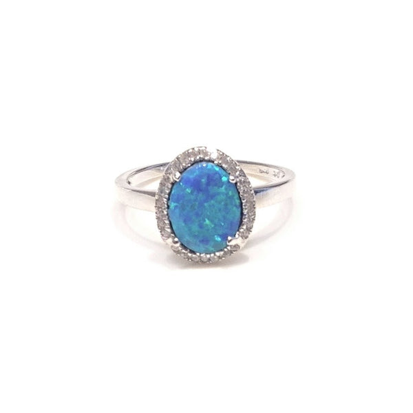 Blue Opal And CZ Ring, $27 | Sterling Silver | Light Years Jewelry