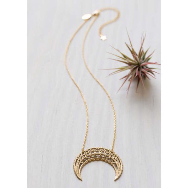 Moroccan Moonrise Necklace by Amano, $30 | Light Years Jewelry