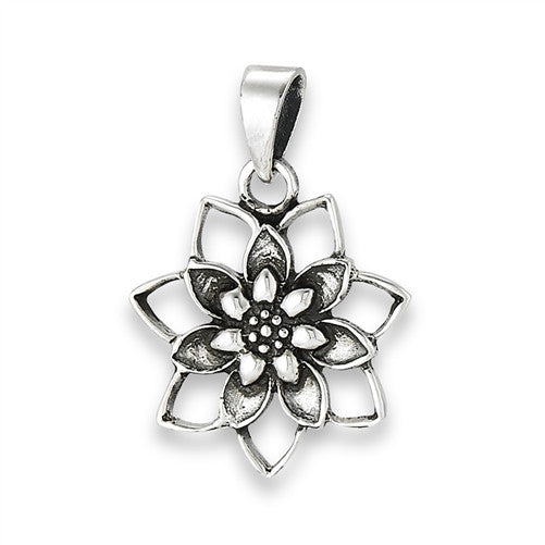 Blooming Lotus Pendant, $14 | Sterling Silver | Light Years