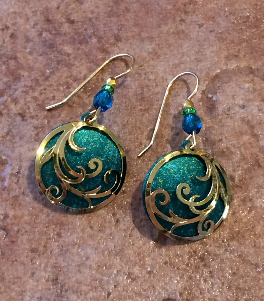 Blue Swirl Dangles by Adajio