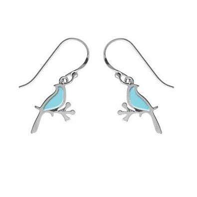 Blue Bird Branch Earrings, $17 | Sterling Silver | Light Years Jewelry