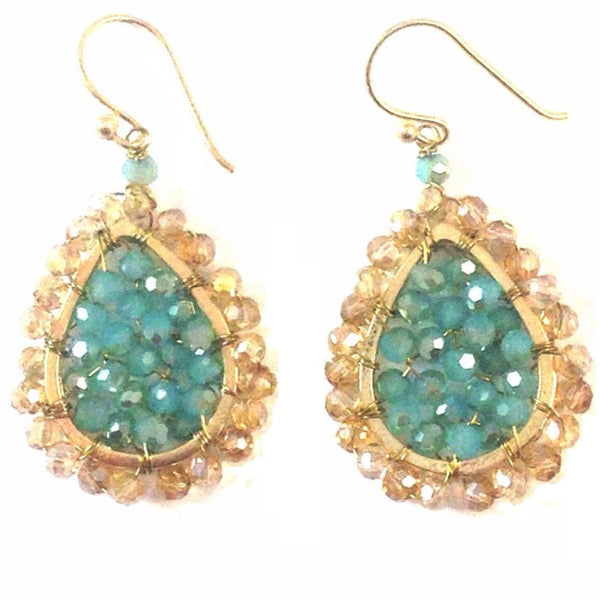 Chalcedony and Topaz Dangles, $16 | Gold Plated Earrings | Light Years Jewelry
