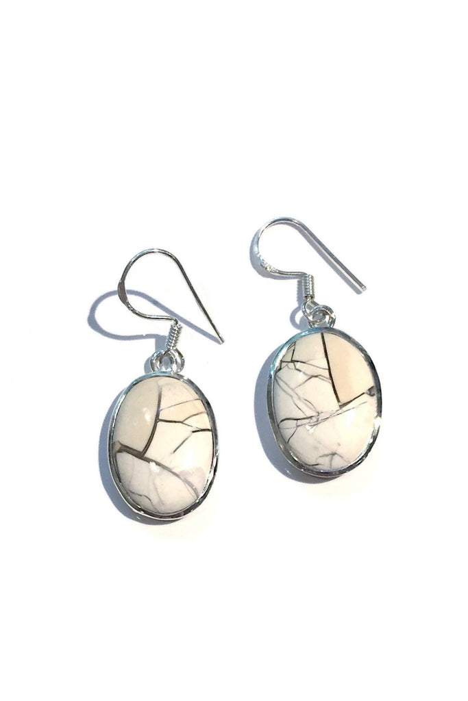 Brecciated Mookaite Earrings, $36 | Sterling Silver | Light Years Jewelry