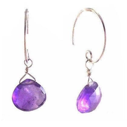 Amethyst Briolette Earrings, $19 | Sterling Silver Earrings | Light Years Jewelry