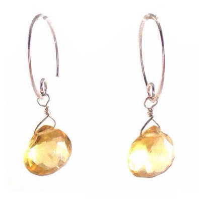Citrine Briolette Earrings, $19 | Sterling Silver Earrings | Light Years Jewelry